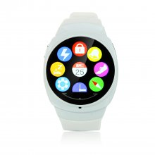 UWATCH UO 1.3 Inch Bluetooth 4.0 Waterproof Support Remote Control for Smartphone White