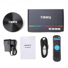 4GB 64GB DDR3 Amlogic T95Q Android 9.0 TV BOX 4K Media Player S905X2 Quad Core 2.4G&5GHz Dual Wifi BT4.1 100M tv set box