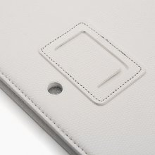10.1 Inch Leather Stand Case for Ployer momo20 Tablet PC -White