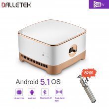 Wireless Beam Mini Projector Android 5.1 System Micro HDMI Video Input 5Ghz WiFi & Bluetooth 4.1 With One Year Global SUBTV IPTV Subscription