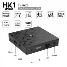 HK1mini TV Box Swedish 2/16G Android 8.1 TV Box with 1 Year Sweden Albania Belgium Netherlands IPTV Subscription 10000+ Live 6000+ VOD Free test