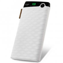 Cager S13 10000mAh Portable Dual USB Output Power Bank for Smartphones Tablet PC White