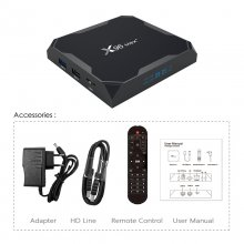 X96 MAX Plus Android 9.0 Box I Dual-Band WIFI With Bluetooth 8K 4G /64G TV Receiver Set Top Box  NO Tax From french warehouse