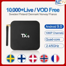 TX6 Smart Android 9.0 TV Box Allwinner H6 IPTV Sweden With 1 Year Europe Iptv Subscription BT5.0 4GB 32GB/4GB 64GB Germany Spain Italy Norway Greece IPTV