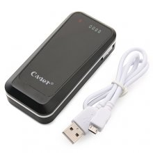 Cager B09 4500mAh Universal Power Bank Back up for iPhone Mobile Phone PSP Black