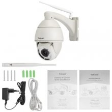 SRICAM SP008 960P H.264 WiFi IP Camera - Light Gray