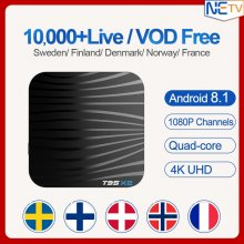 T95X2 Android 8.1 Tv Box Sweden Iptv Subscription with Free VOD 2GB 16GB/4GB 32GB Italy Spain Albania Switzerland Greece IPTV Box