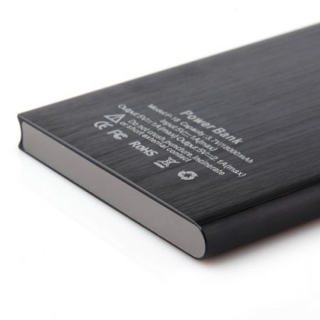 IHT P-18 18000mAh Dual USB Power Bank for iPhone iPad Smartphone - Black