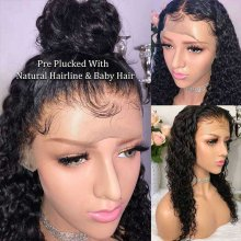 150 Density Wet And Wavy 360 Lace Wigs Peruvian Water Wave Remy Human Hair Lace Frontal 360 Wigs