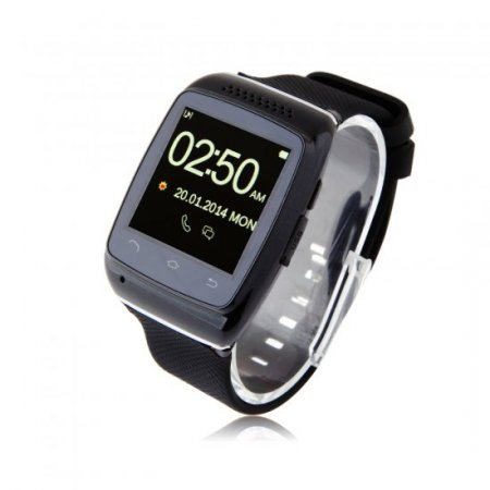 ZGPAX S12 Smart Bluetooth Watch 1.54 Inch Touch Screen with Mic - Black