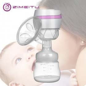 Integrated Electric Breast Pump Wireless BPA Free Nipple Suction Usb charging Breast Pump Enlargement Increase Milk Secretion