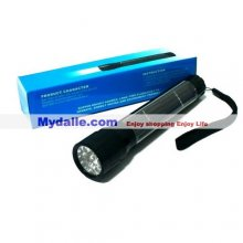 Solar Powered LED Flashlight - Over 16% Power Conversion Rate - Built-in 300mAh Rechargeable Battery