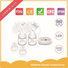 Portable Breast Pump Mini Dual 2 In 1 Electric and Manual Set Massage Milker Milk Bottle Nipple BPA Free Low Noise Breast Pump