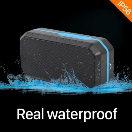 Waterproof Portable Mini Bluetooth V4.2 Speaker Wireless for Android iOS FM Radio MP3 TF Card Player Speaker with Mic Hands Free