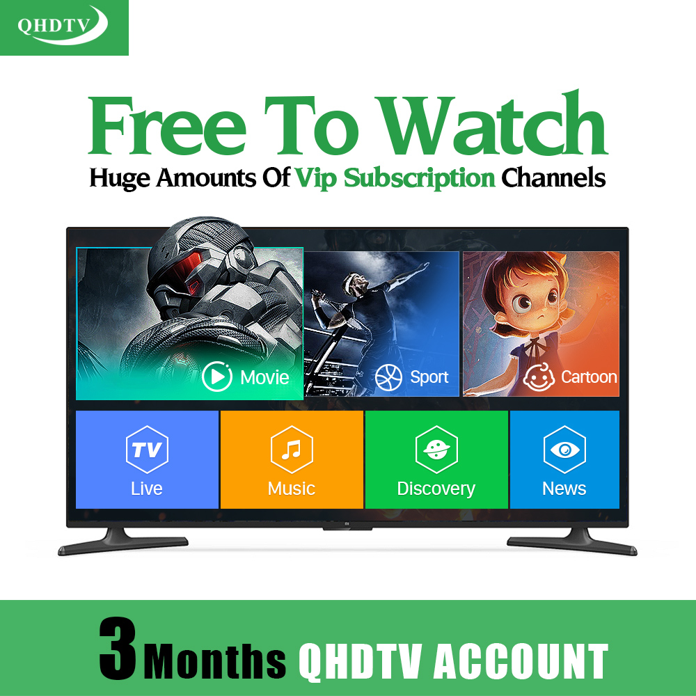 3 Months Arabic Code Support French Italian Turkish Portugal In Qhdtv Account Support Apk M3U SmartTV Mag