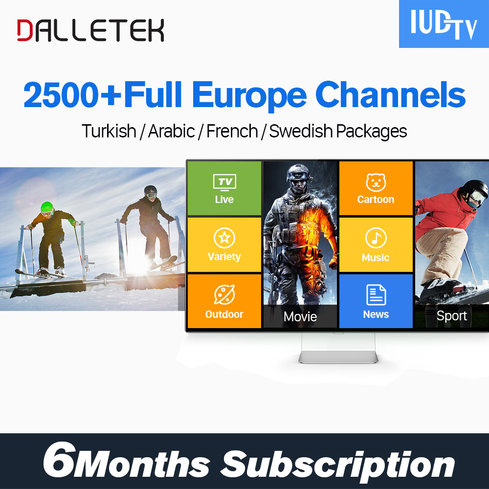 6 Months Iudtv Italy/Germany/UK IPTV Account Turkish Indian African US Channels Support APK Enigma2 Mag25X M3U