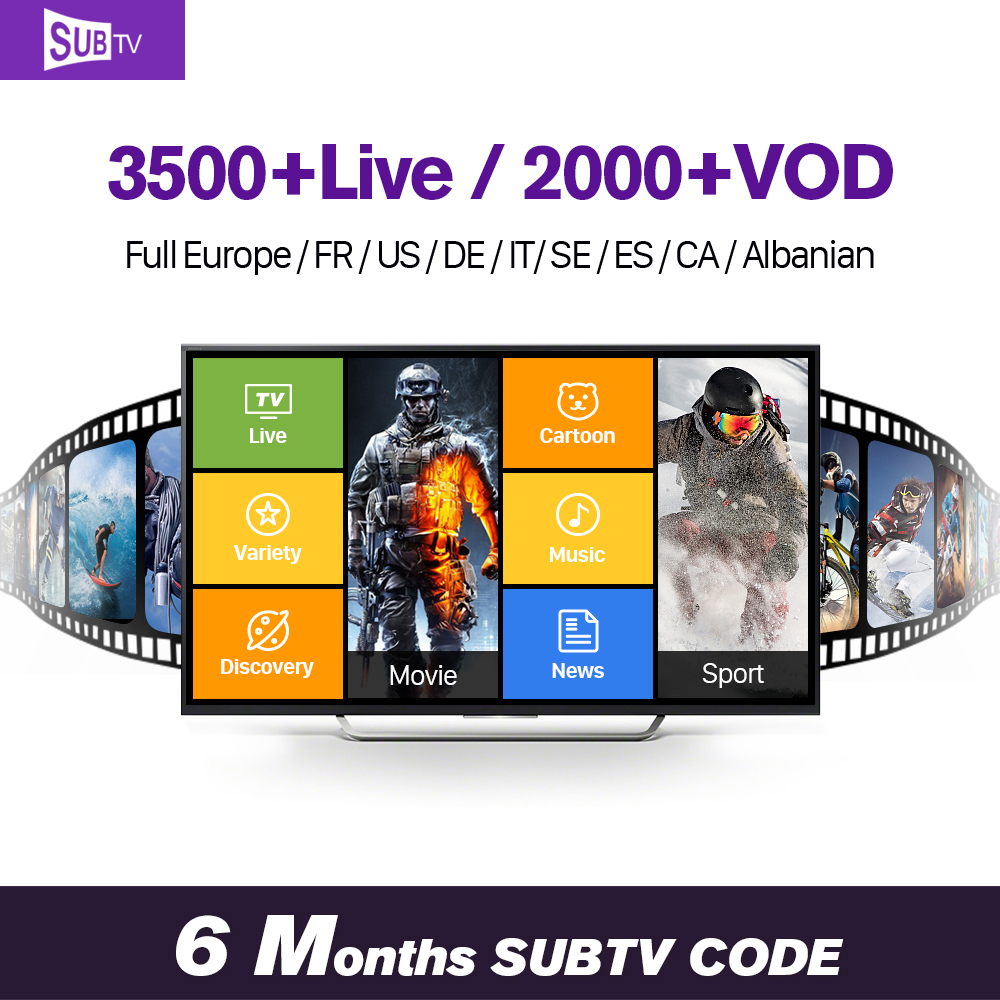 SUBTV 6 Months Support European Turkish EX-YU Arabic Germany Swedish Channels Subtv Iptv Support Apk Mag Linex M3u enigma2