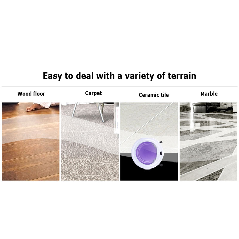 Floor Cleaning Robot 350L, Automatic Slim ultra-quiet vacuum cleaner sweeping machine Purple