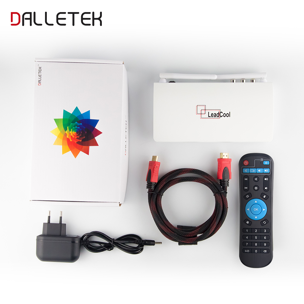 Leadcool 1 Year Arabic UK French QHDTV IPTV BOX Android 6.0 1GB 8GB Smart Set Top Box Send From Germany Free Shipping