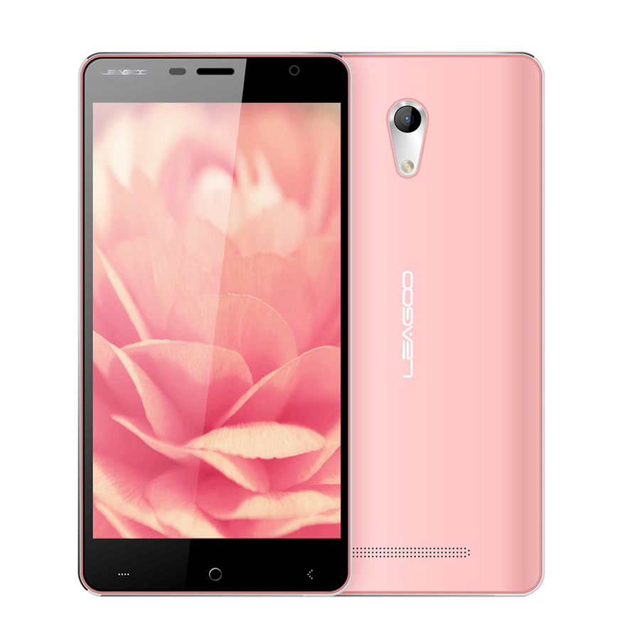 LEAGOO Elite 4 4G Smartphone 5.0 Inch 64bit MTK6735 1GB 16GB Android 5.1- Pink