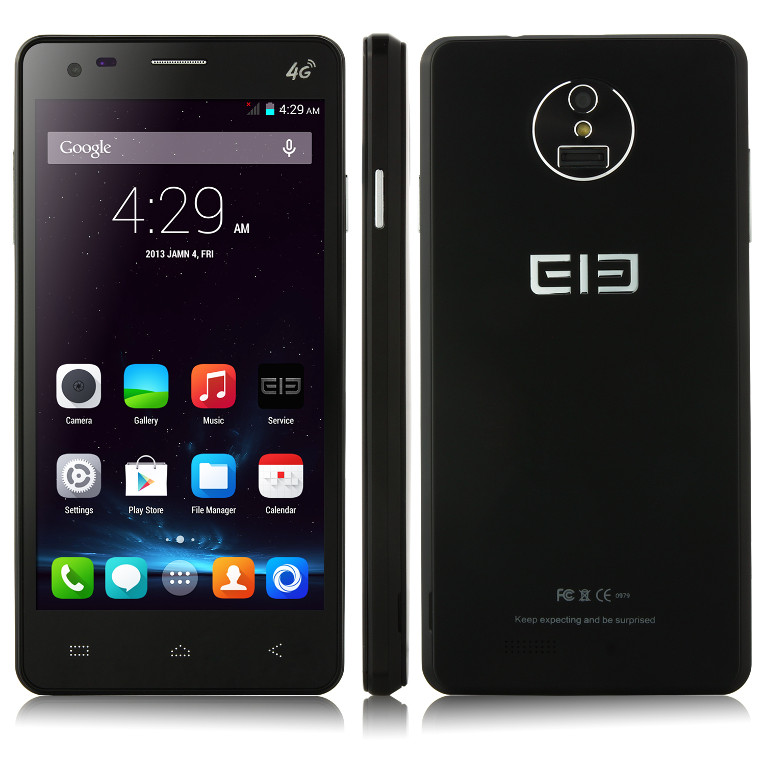 Elephone P3000 Smartphone 4G LTE Android 4.4 Quad Core 5.0 Inch HD Screen 3150mAh Black