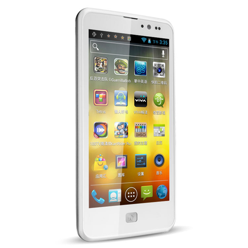 ZOPO ZP300+ Dual Core Field Smart Phone 4.5 Inch IPS Retina 720P Screen Android 4.0 MTK6577 1GB RAM White