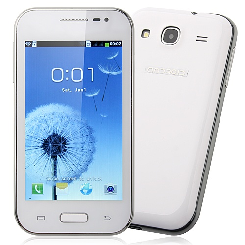Mini 7100 Smart Phone Android 4.0 OS SC6820 1.0GHz 4.0 Inch 2.0MP Camera- White