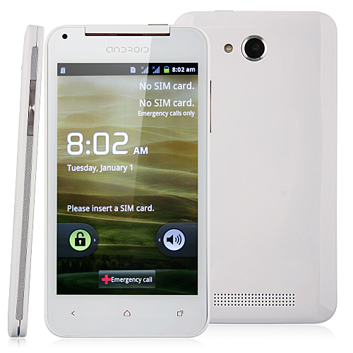 Used X920e Smart Phone Android 4.0 OS SC6820 1.0GHz 5.0 Inch 2.0MP Camera- White