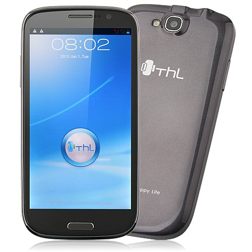 ThL W8 Smart Phone MTK6589 Quad Core Android 4.1 1G 4G 5.0 Inch HD IPS Screen- Grey