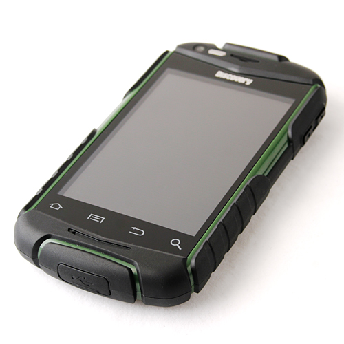 V5 Shockproof Smart Phone Android 2.3 MTK6515 1.0GHz WiFi 3.5 Inch Touch Screen- Green