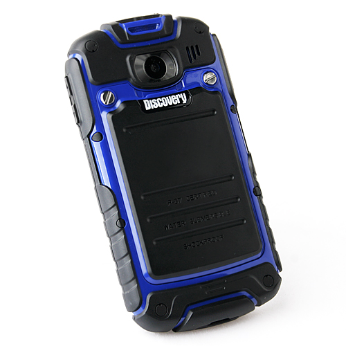 V5 Shockproof Smart Phone Android 2.3 MTK6515 1.0GHz WiFi 3.5 Inch Touch Screen Blue