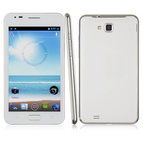 Haipai I9220 Smart Phone Android 4.0 OS MTK6575 1.0GHz 3G GPS WiFi 5.2 Inch- White