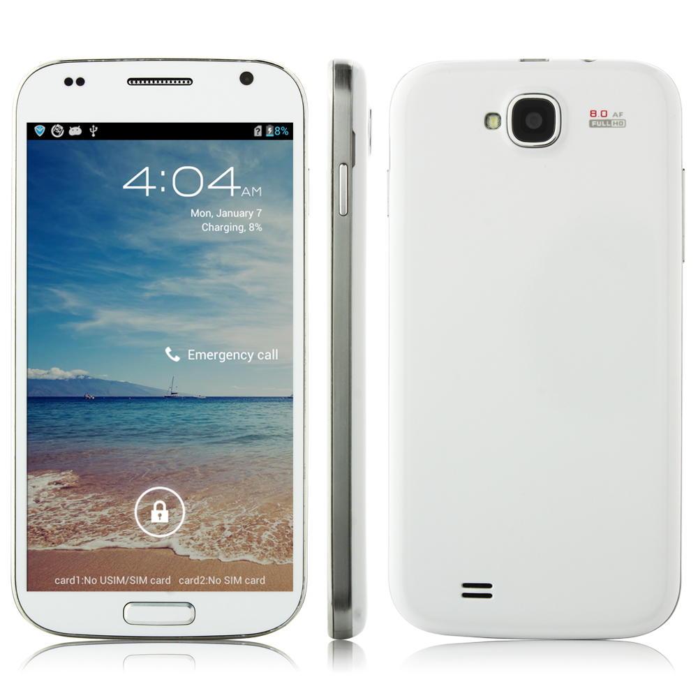Star S4 Smartphone MSM8225Q Android 4.1 1GB 4GB 5.0 Inch HD OGS Screen 3G GPS - White