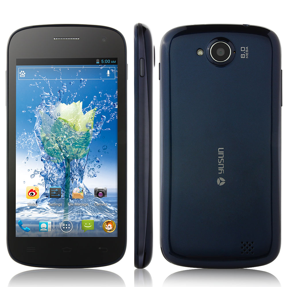 YUSUN W91 Smartphone MTK6577 Android 4.0 Dual Core 3G GPS 4.5 Inch QHD Screen Dark Blue