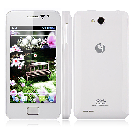 JIAYU G2 Dual Core Smart Phone 4.0 Inch IPS Screen Android 4.0 MTK6577 1.0GHz 3G GPS- White