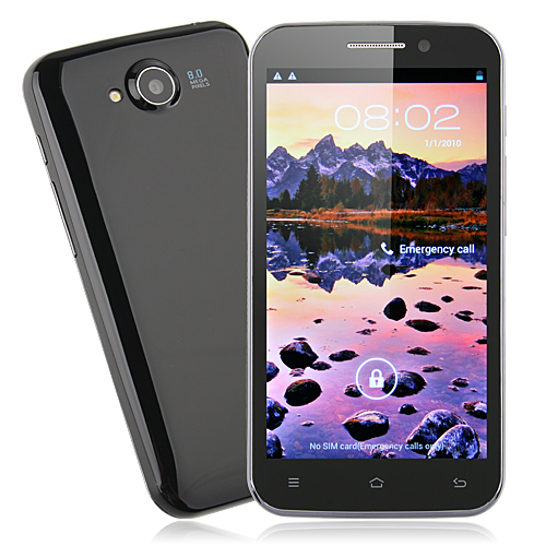 CAESAR H7500+ Smart Phone MTK6589 Quad Core 5.0 Inch IPS HD Screen Android 4.1 5.0MP Front Camera- Black