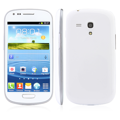 SH-I8190 Smartphone Android4.0 MTK6515 WiFi 4.0 Inch Capacitive Screen- White