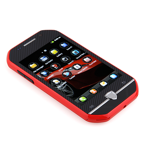 F599 Smartphone Android 2.3 MTK6515 3.4 Inch TFT Capacitive Screen - Red