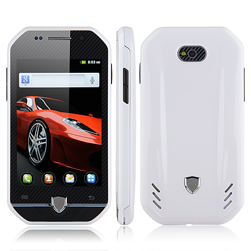 F599 Smartphone Android 2.3 MTK6515 3.4 Inch TFT Capacitive Screen - White