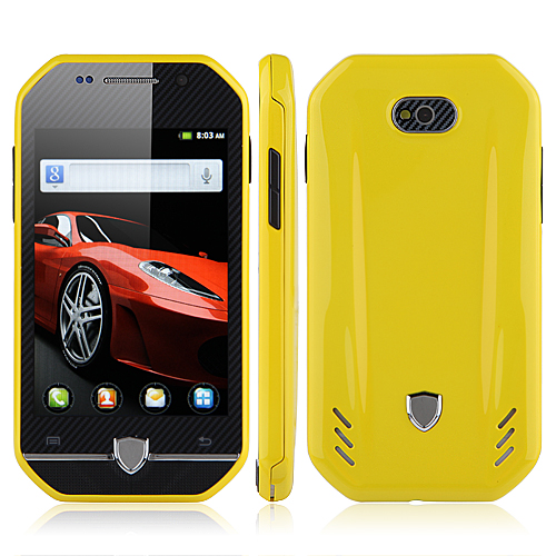 F599 Smartphone Android 2.3 MTK6515 3.4 Inch TFT Capacitive Screen - Yellow
