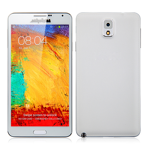SM-N9000 Smartphone Android 4.2 MTK6572W 1.2GHz 1GB 16GB 3G GPS 5.5 Inch - White