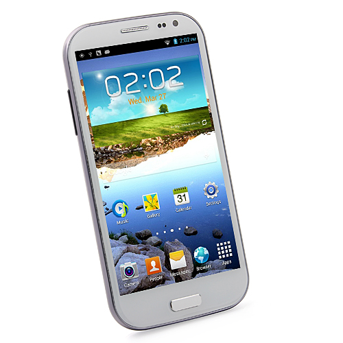 Feiteng H9500 S4 Smartphone Android 4.2 MTK6582 5.0 Inch HD Gorilla Glass OTG- White