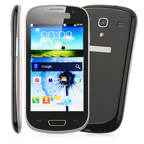 i8190 TV Smart Phone Android 2.3 SC6820 1.2GHz 4.0 Inch Capacitive Screen- Black