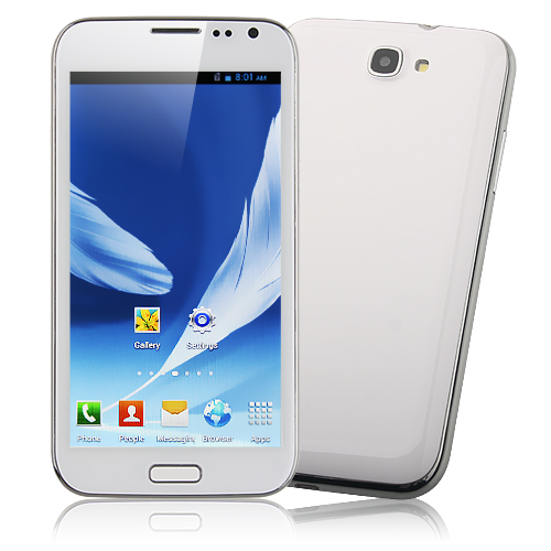 Used N719 Smart Phone Android 4.1 MSM8625 Dual Core 3G CDMA GPS 5.3 Inch- White