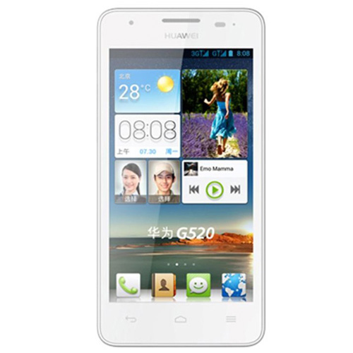 HUAWEI G520 Smartphone MSM8225Q Quad Core Android 4.1 3G GPS 4.5 Inch IPS Screen- White