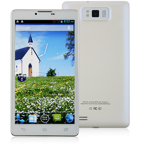 C3 Smartphone 6.0 Inch Large Screen Android 4.2 MTK6577 Dual Core 3G GPS