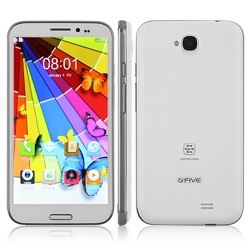 G'FIVE G9 Smartphone Aliyun OS MTK6589 Quad Core 5.7 Inch HD IPS Screen
