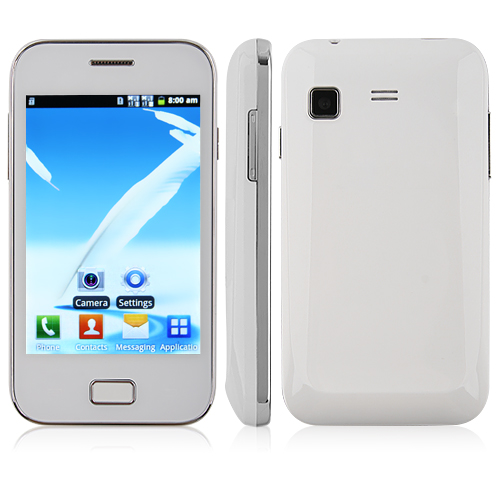 Used Tengda 6802 Smartphone Android 4.1 OS SC6820 1.0GHz 3.5 Inch 2.0MP Camera- White