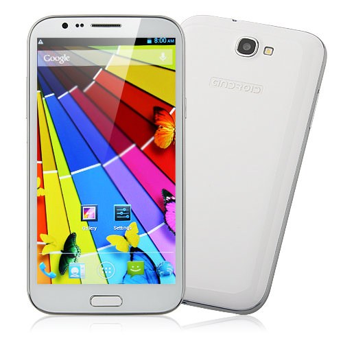 Tengda S7599 Smartphone HD Screen 1GB 16GB Android 4.2 MTK6589 Quad Core 5.8 Inch 12.0MP Camera- White