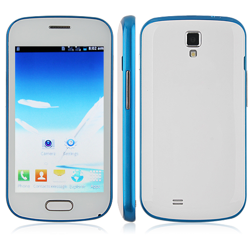 Tengda F7562 Smartphone Android 4.1 OS SC6820 1.0GHz 4.0 Inch 3.0MP Camera- Blue